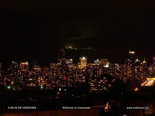 Downtown Vancouver on March 24, 2009 from numinous.ca